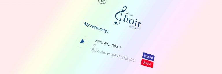 "Corona-Mix erstellen mit dem ""Virtual Choir Recorder"""